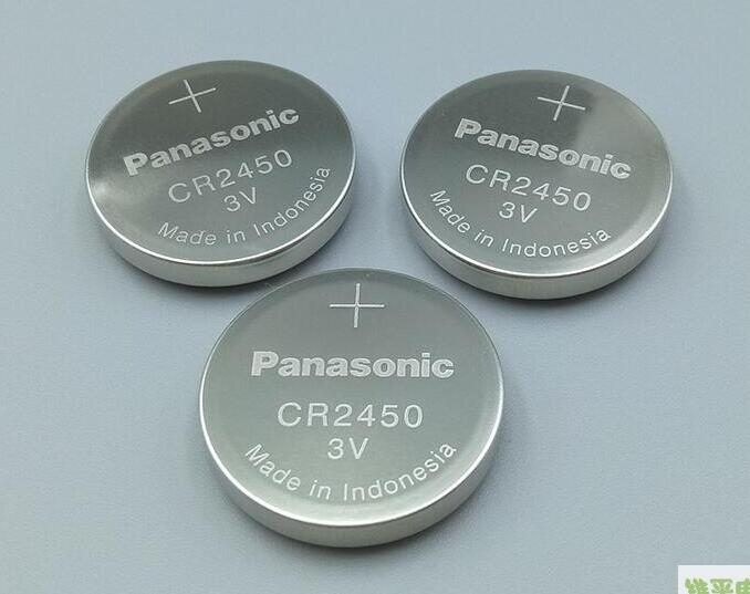 15pcs/lot New Original Battery For Panasonic CR2450 <font><b>CR</b></font> <font><b>2450</b></font> <font><b>3V</b></font> Lithium Coin Watch Key Fobs Batteries For LEXUS Car Controller image