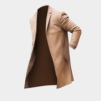 2018 New Spring Autumn Jacket Men Casual Fashion Single Breasted Coat Solid Colors Suit Collar Long