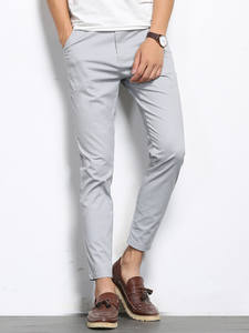 BROWON Formal-Trousers Casual-Pants Elastic Ankle-Length Autumn Straight High-Quality
