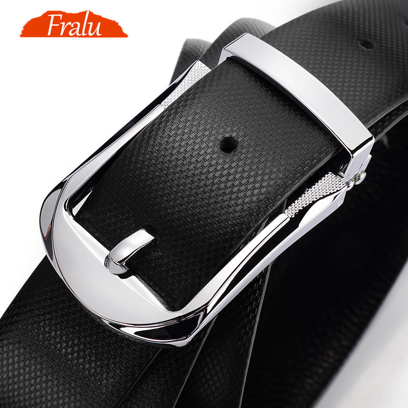 FRALU  Designer Belts Belt Men First Layer Cowhide Belt Male Leather Buckle Casual Business Trousers Male Belt