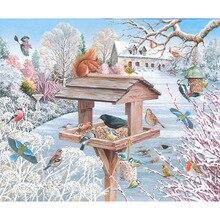 5d diamond embroidery snow bird DIY painting full resin cross stitch living room home decorati