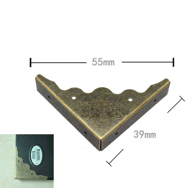 Wholesale Bronze Tone Book Scrapbooking Albums Menus Corner Protectors Metal Bat Corners For Books,40*40*10mm,Fit 10mm,200Pcs allen roth brinkley handsome oil rubbed bronze metal toothbrush holder