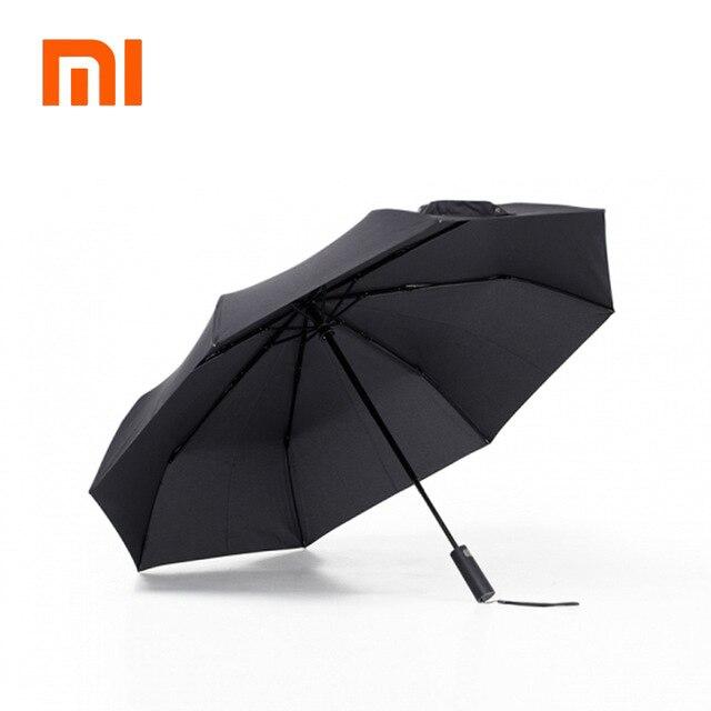 Nouveau Xiaomi Mijia automatique ensoleillé pluvieux parapluie aluminium coupe-vent imperméable UV parapluie homme femme été hiver
