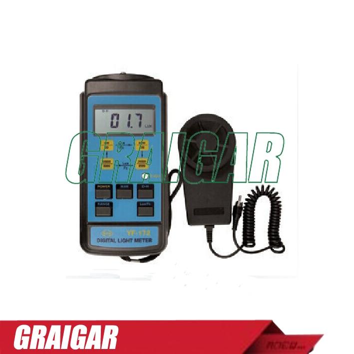 YF-172 LCD display Digital lux meter illuminometer light meter yf 172 tenmars made in taiwan digital light meter with free shipping