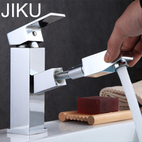 JIKU Kitchen Faucet Bathroom Basin Faucet Single Handle Single Hole Mixer Tap Deck Mounted Hot And Cold Tap Sink Brass Faucet