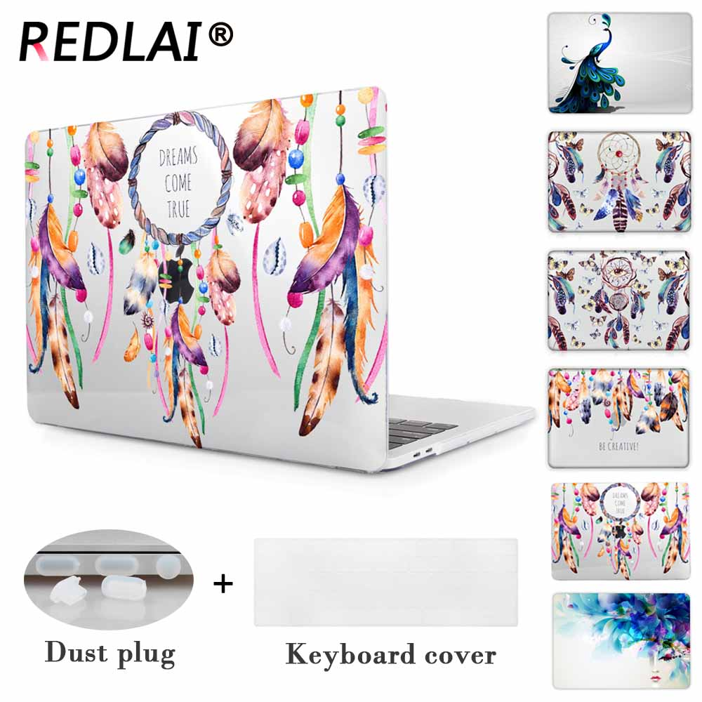 Redlai Dream catcher Crystal Hard Cover Case For Macbook Air 13 inch Pro 13.3 15.4 Retina 2016 & 2017 New Laptop Sleeve new cover for macbook air 11 13 case 13 15 pro for macbook case 13 sleeve crystal matte hard notebook laptop cover case pro 13