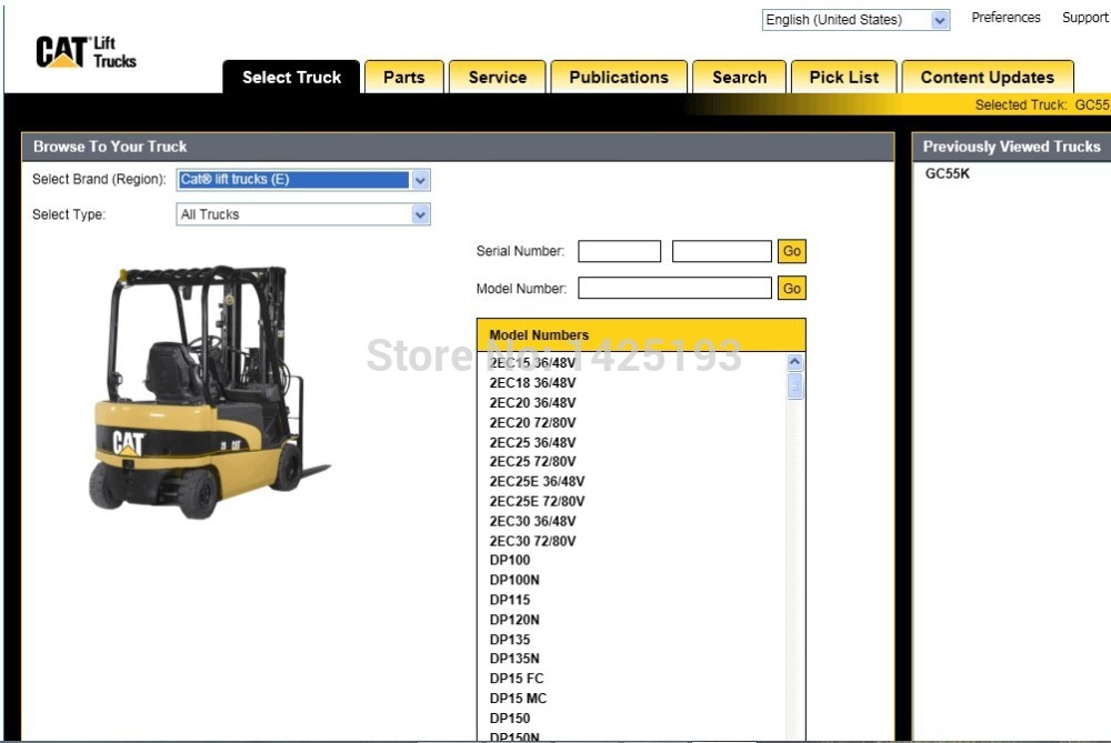 Lift Trucks 2017 (MCFE) for 123 spare part catalogue