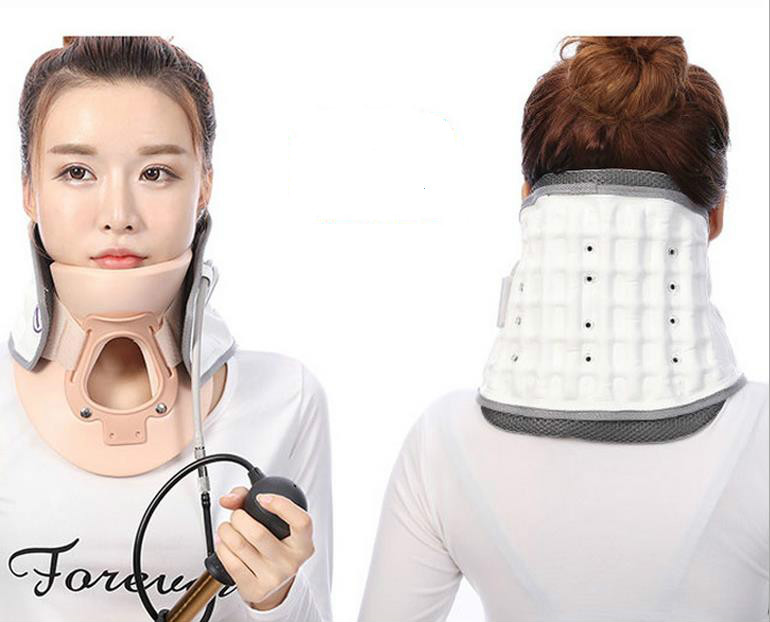 Adult cervical traction apparatus inflatable support fixed TuoHu neck with neck stretching his neck medical neck support orthosis adjustable cervical collar device fixed traction braces vertebra rehabilitation head protection