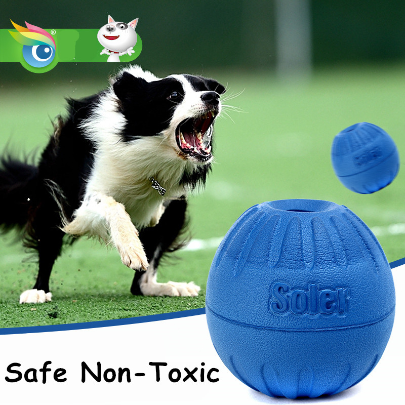 Big Dog Ball Toy Chew Play Games Blue Tooth Clean Deus Pet Food Containers Teaser Latex Activity Dog Accessories Toy ChinaDDMZZX
