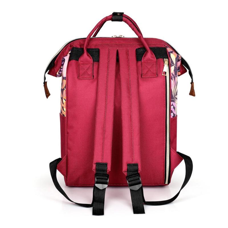 HTB1EoCISNjaK1RjSZFAq6zdLFXa1 Large capacity Mummy Maternity Travel Backpacks Nylon Plant Print 2019 Stylish Baby Diaper Shoulder Bags Daily Casual Travel New