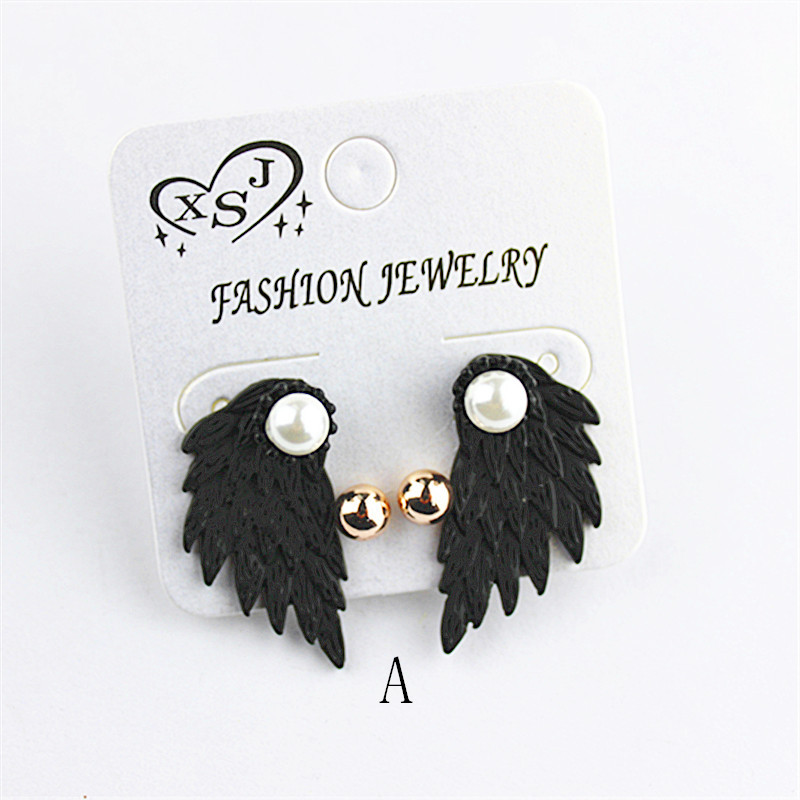 The new popular black joker ms dismountable earrings wholesale girls birthday party wings gorgeous earrings earrings gift free s ...