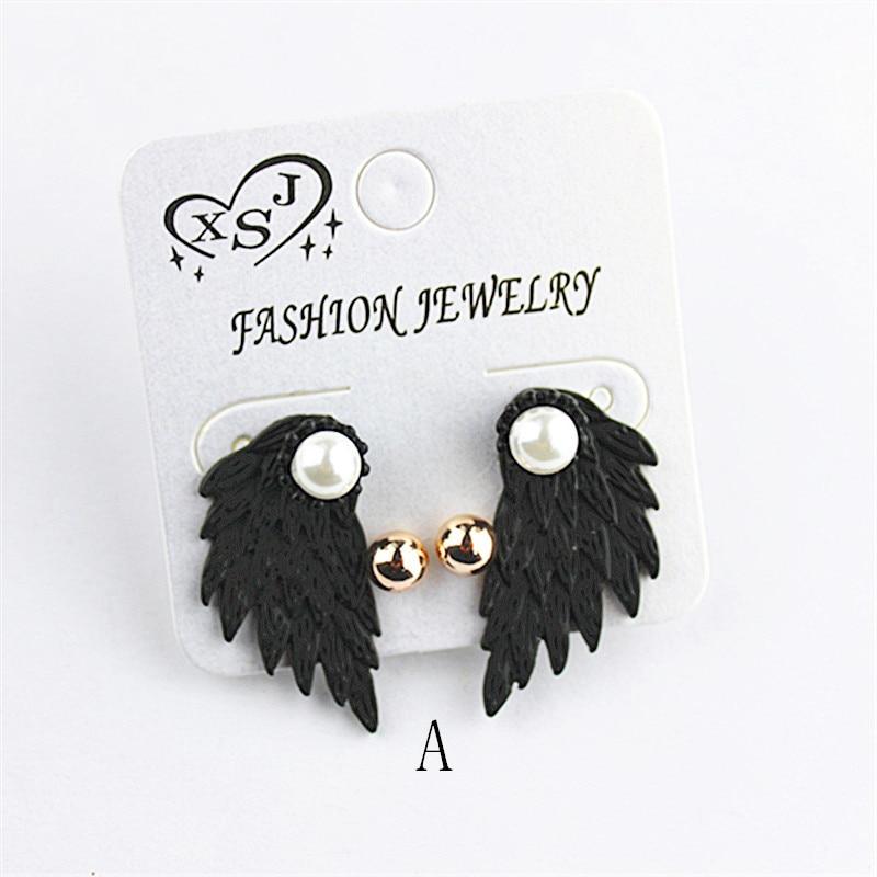 The new popular black joker ms dismountable earrings wholesale girls birthday party wings gorgeous earrings earrings gift free s