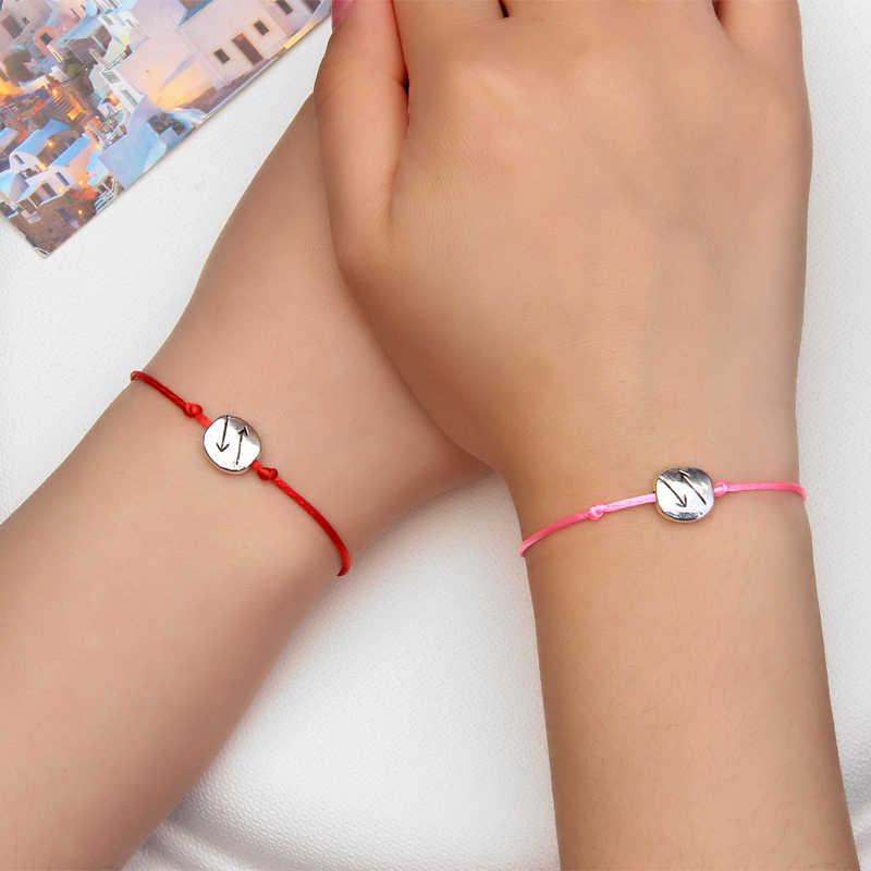 ZOSHI czeski serce pary bransoletki zestaw dla kobiet mężczyzn nieskończona skrzydła i węzeł kontrast bransoletka najlepszy przyjaciel życzenie biżuteria 2 sztuk/zestaw