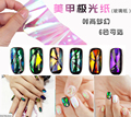 10cm explosion models nail stickers Aurora cullet Symphony irregular paper platinum glossy paper candy wrappers