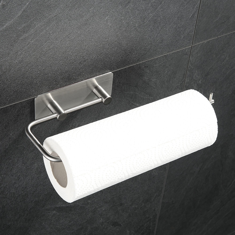 Stainless Steel Kitchen Towel Holder Wall-mounted Bathroom Tissue Rack Home Storage Tool