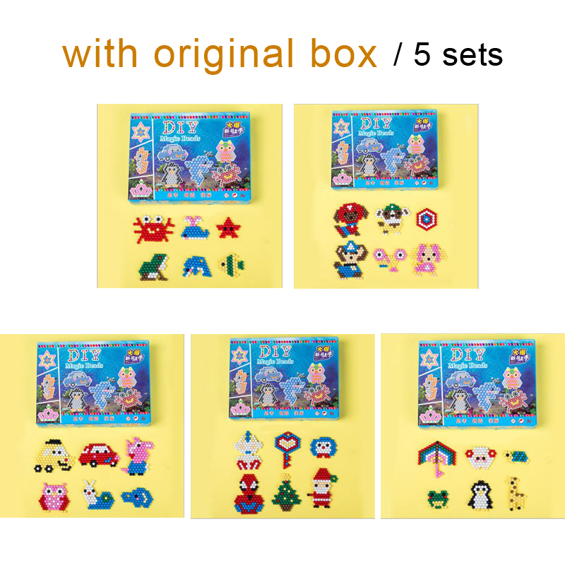 DOLLRYGA 5 Sets DIY Magical Water Beads Toys For Children Arts And Crafts Creative Material Watery Sticky Beads Brithday Gift