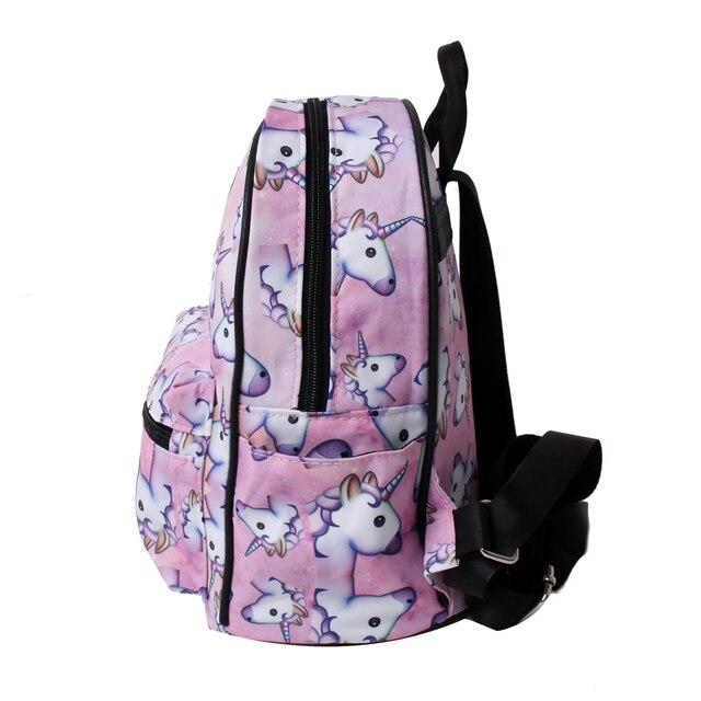 Mini 3D Printed Pink Unicorn Shoulder Bag for Teenagers