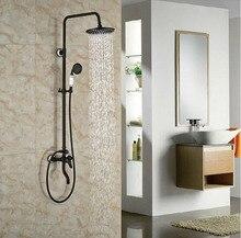 Öl Eingerieben Broze Brausegarnitur Bad Regendusche Mit Handbrause 8-in-1 Dusche Wasserhahn