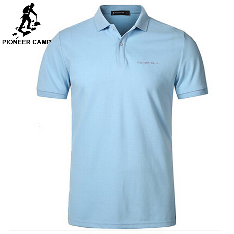Pionner Camp men   polo   Shirt Men Business Casual solid male   polo   shirt Short Sleeve High quality Pure Cotton Brand clothing