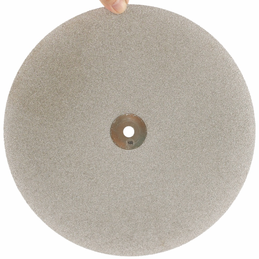 12 inch 300mm Grit 100 Diamond Grinding Disc Abrasive Wheel Coated Flat Lap Disk Coarse Lapidary Tools for Stone Ceramics Glass