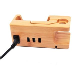 Image 5 - آيفون أبل ساعة جهاز شحن محطة آيفون 11 XR 8 7 7 Plus 6 6S زائد خشبية 3A حامل حامل شاحن USB ميناء