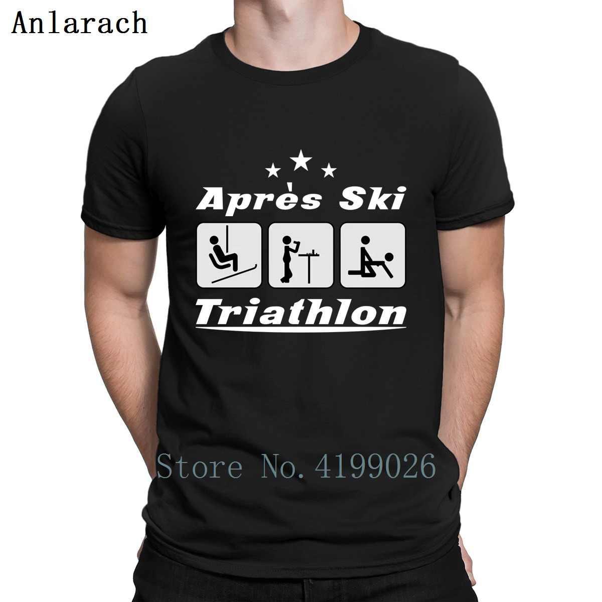 44055160 Apres Ski Triathlon Tshirt Funny Casual Personality Tee Top Humorous  Sunlight Tshirt For Men Standard Crew