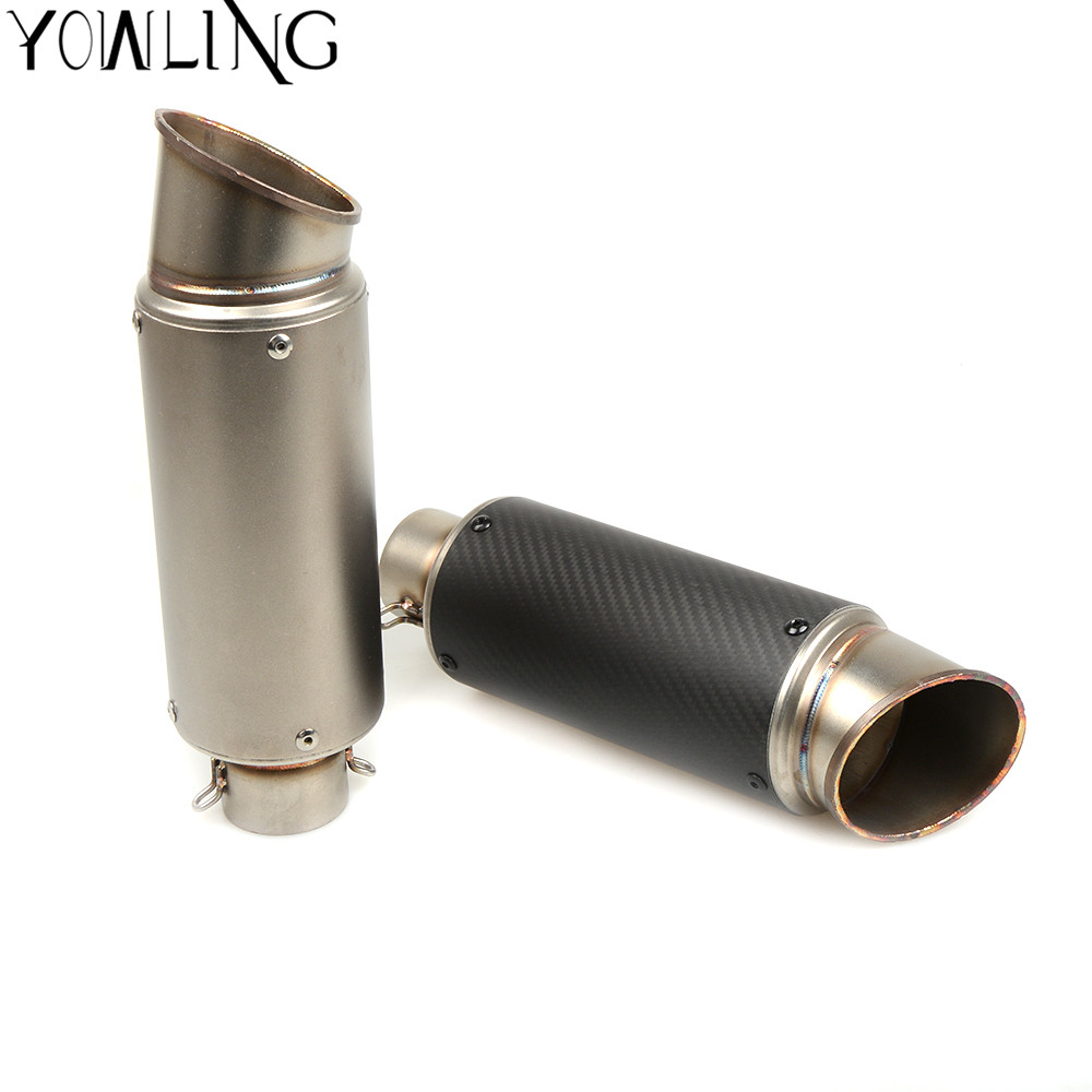 Motorcycle Exhaust Pipe Scooter Modified Muffler Pipe For BMW KAWASAKI Z800 Yamaha TMAX 500 530 MT 07 09 MT07 MT09 KTM DUKE 200