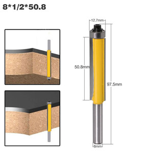 """Image 3 - 3 stücke 8mm Schaft 2 """"Flush Trim Router Bit Set Fräser mit Lager für Holz Vorlage Muster bit Holz Cutter Fräsen Werkzeuge"""