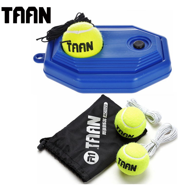 TAAN Tennis Ball Back Base Trainer Set with Elastic Rope Tennis Trainer for Single Person Partner Practice Play Tennis Ball