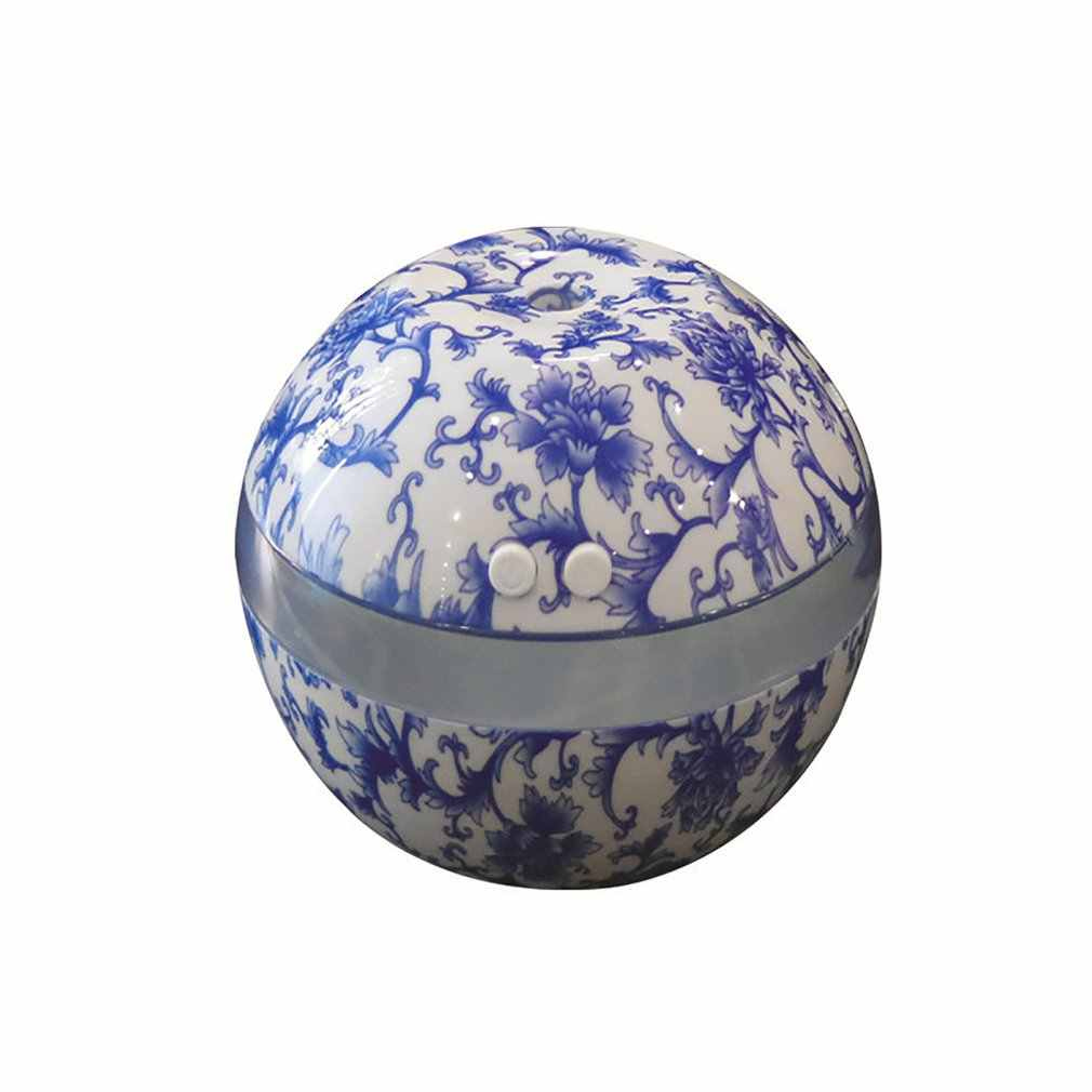 Blue & White Porcelain Ultrasonic Humidifier Air Humidifier AROMA Essential Oil Diffuser น้ำมันหอมระเหยสำหรับ Home Office SPA
