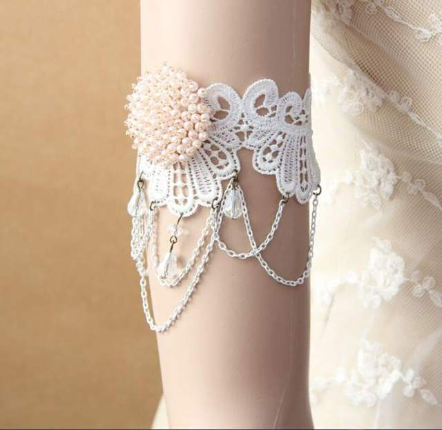 1pcs Women Crystal Chain Flower Lace Arm Band Armband Armlet Bracelet Bridal  Accessories. 3 orders 63c00f72ce39