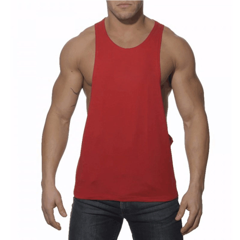 Solid Color Bodybuilding Mmen Ttank Top Fitness Shirts Sleeveless Workout Men Sportwear Clothing Men Tank Tees