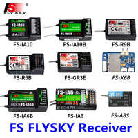 FlySky FS-R6B 2,4 GHz 6CH RC AFHDS FS R6B receptor para i6 i10 CT6B T6 TH9x transmisor de Control remoto partes