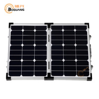 BOGUANG Foldable high efficiency 60W solar panel kit charge battery usb mobile phones and digital camera golf car outdoor use