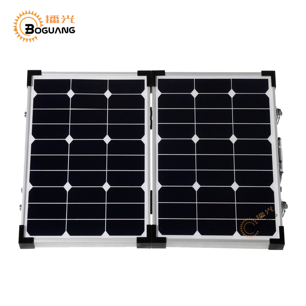 BOGUANG Foldable high efficiency 60W solar panel kit charge battery usb mobile phones an ...