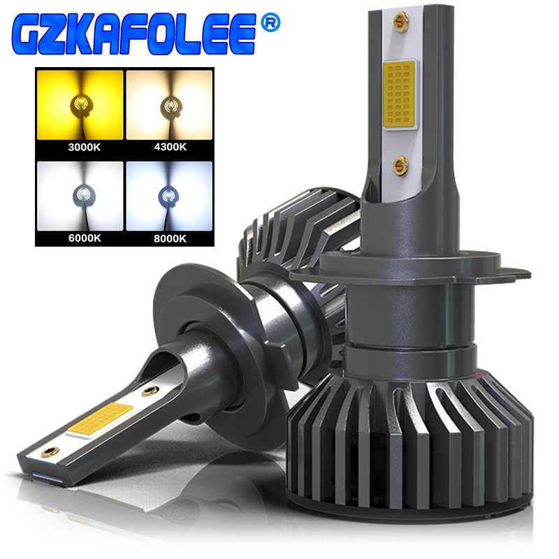 GZKAFOLEE 4 Colors To Choose From H4 LED H7 Car Headlight Bulb H1 H3 H11 HIR2 9005 HB3 9006 HB4 H8 4300K 6500K 8000K 16000LM