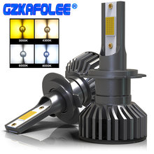 GZKAFOLEE 4 Colors To Choose From H4 LED H7 Car Headlight Bulb H1 H3 H11 HIR2 9005 HB3 9006 HB4 H8 4300K 6500K 8000K 16000LM(China)