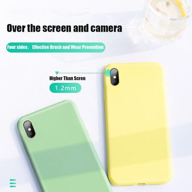 Soft Liquid Silicone Case For Xiaomi Mi 9T 10 Mi9 SE 9 Lite A2 A3 6X Case On Redmi Note 9 9S 7 8 Pro 8T 7A 8A Redmi K20 Pro K30