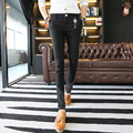 2016 New Fashion Men's Pants Black Casual Pants Han edition Slim Contracted Pants Men Solid Joggers Pants Stretch Trousers Men