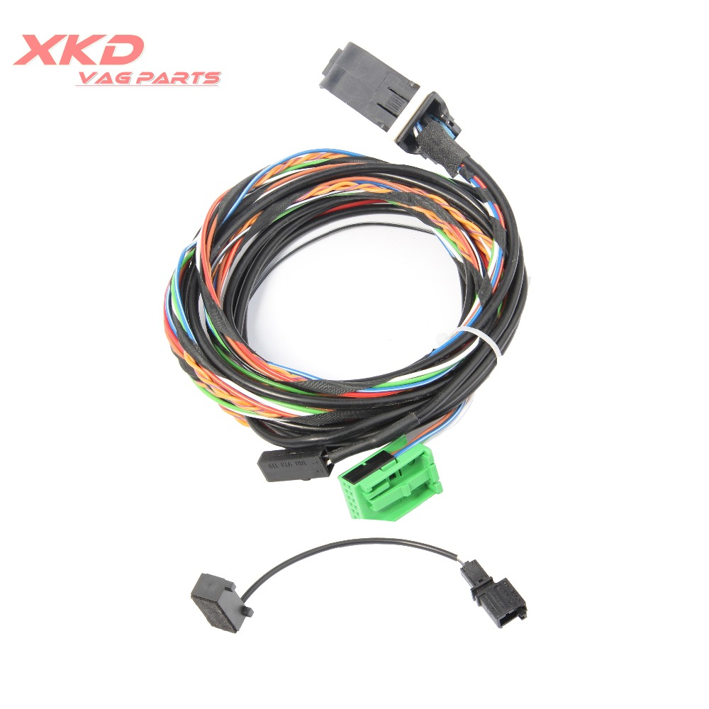 9w2 9w7 Bluetooth Wiring Harness Cable For Vw Golf Jetta Passat 2014 Wire Rcd510 Rns510 1k8 035 730 D C In Steering Wheels Horns From Automobiles