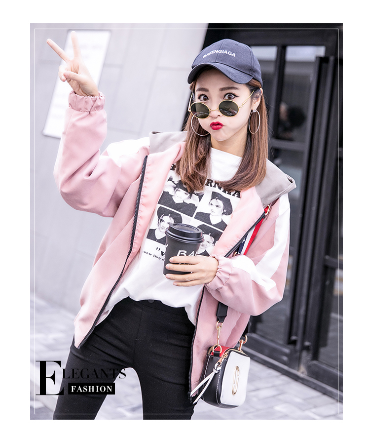 2019 Autumn Jacket Womens Streetwear Patchwork Hooded Totoro Jackets Kawaii Basic Coats harajuku Outerwear chaqueta mujer 49