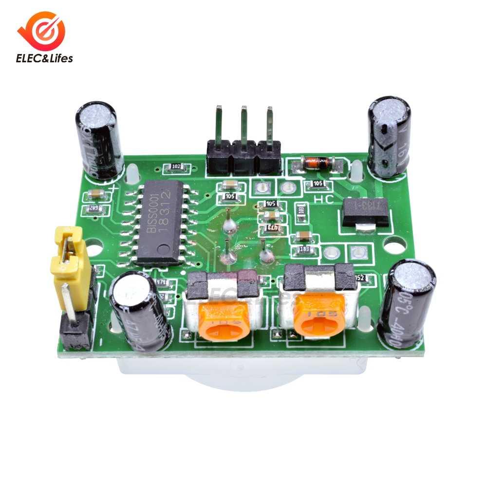 HC-SR501 Отрегулируйте инфракрасный ИК пироэлектрический инфракрасный PIR модуль датчик движения Детектор модуль для Arduino DIY Kit