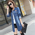 Spring and autumn new models of women long paragraph loose loose large denim jacket TB7041