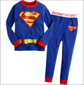 Superman kids pijamas,baby boy clothes,new 2014,spring clothing set,boy girl pyjamas, baby sleepwear,children pajama