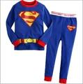 Superman kids pijamas,baby boy clothes,new 2014,spring clothing set,boy girl pyjamas, baby sleepwear,children pajama