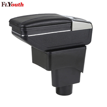 Car Armrest Box Interior Pu Leather Central Store Content Box Cup Holder Ashtray Car-Styling For Ford Ecosport 2013-2017 for ford ecosport 2013 2017 car central container armrest box auto car styling central store content box cup holder accessori