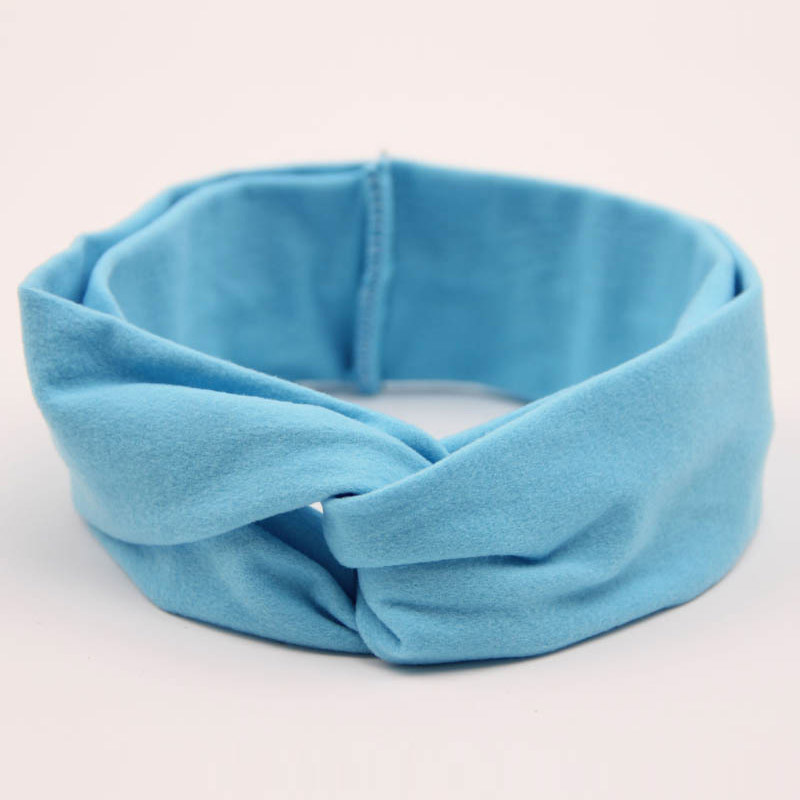 SLKMSWMDJ exquisite new children 39 s girl baby soft cross elastic cotton headband solid color hair hoop hair accessories 11 colors in Hair Accessories from Mother amp Kids
