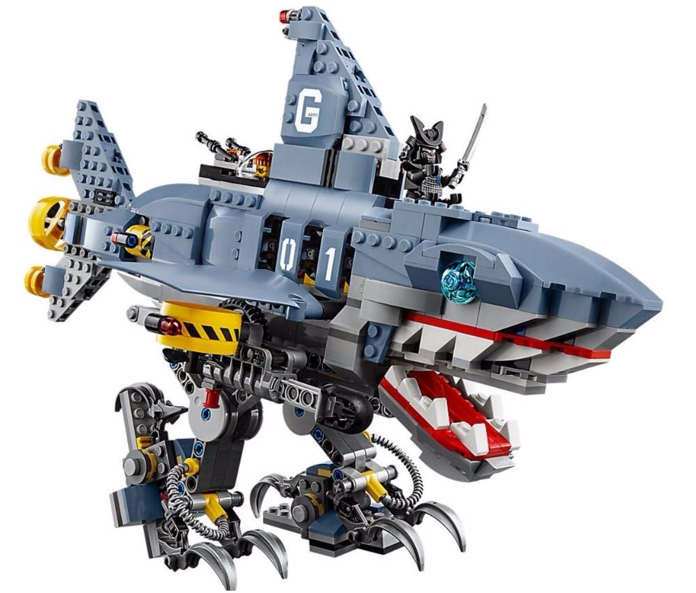 Ninja Film Lloyd Sauver Nomis GARMADON Requin Mech Blocs de Construction Briques Jouets Enfants Cadeaux Compatible Legoings Ninjagoes 70656
