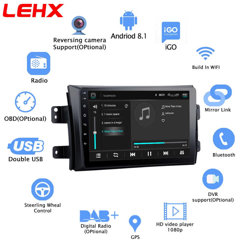LEHX 2.5D IPS スクリーン車ラジオプレーヤー SX4 2006 2007 2008-2011 2012 2Din アンドロイド 8.1 マルチメディア GPS ナビゲーションプレーヤー