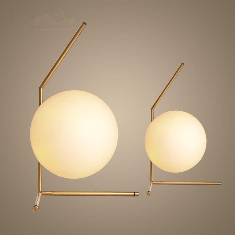 Современные Дизайн диаметр 20 см Стекло мяч настольная лампа для Спальня исследования светодиодные прикроватная ночник Книги по искусству деко стол свет abajur para qu Книги по искусству o